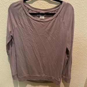 Pink casual long sleeve top
